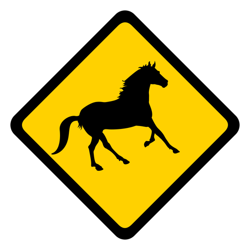 Advertencia de rombo de caballo plana Transparent PNG