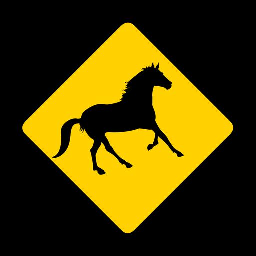 Horse rhomb warning flat Transparent PNG