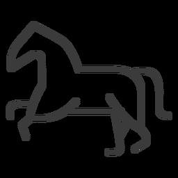 Cola caballo cola de caballo divinidad trazo