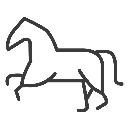 Horse tail mane divinity stroke Transparent PNG