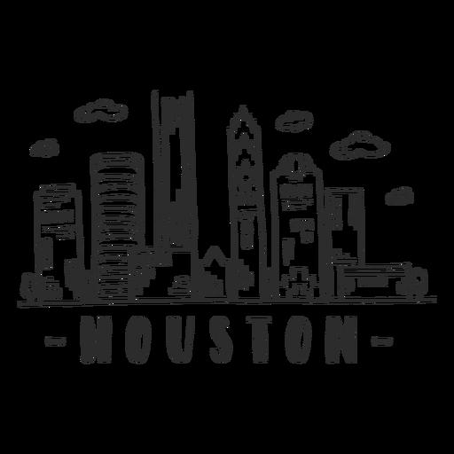 Etiqueta engomada del horizonte de la nube del centro comercial del rascacielos del centro de negocios de la bóveda de la catedral de Houston Transparent PNG