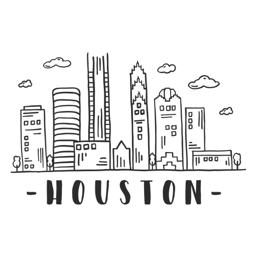 Houston cathedral dome skyline sticker Transparent PNG