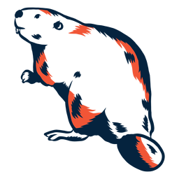 Illustrated beaver