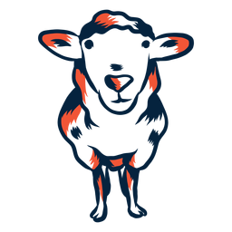 Illustrierte duotone Schafe