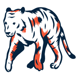 Illustrated duotone tiger