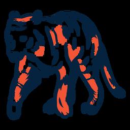 Tigre duotono ilustrado