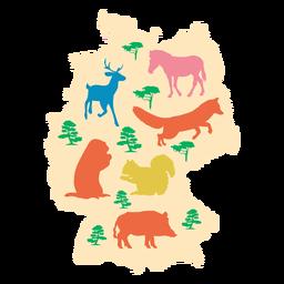 Mapa ilustrado da Alemanha
