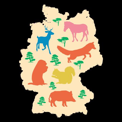 Mapa ilustrado de alemania Transparent PNG