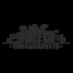 Monumento a la Indiapolis rascacielos Skyline