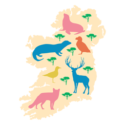 Ireland animal illustration