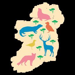 Irland Tierillustration