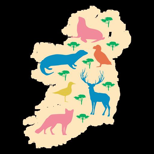 Ilustración de animales de Irlanda