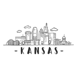 Kansas sky scraper dome mall business skyline sticker