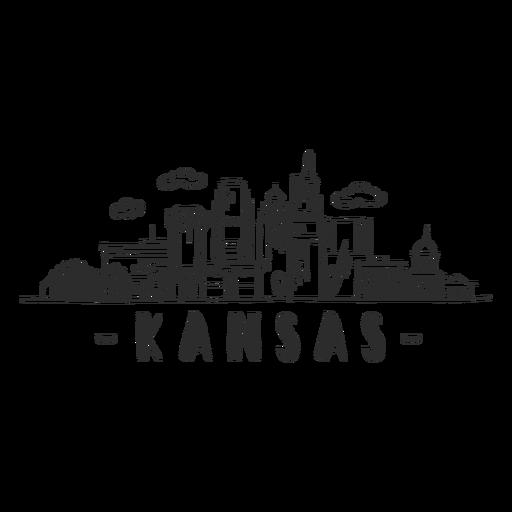 Kansas sky scraper dome mall business skyline sticker Transparent PNG