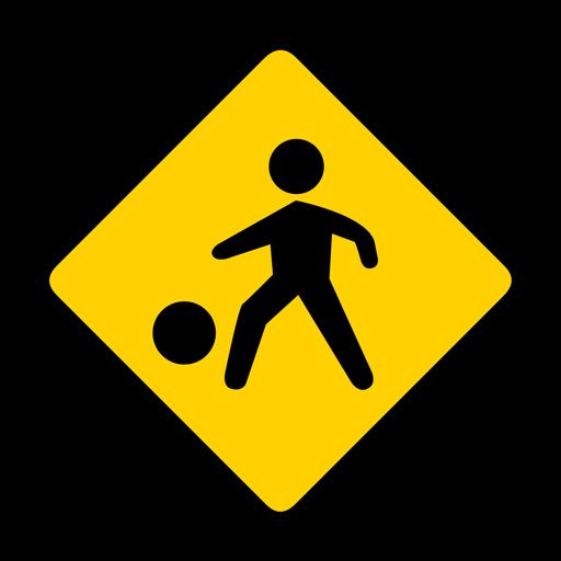 Kid child children ball residential area rhomb warning flat Transparent PNG