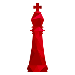 King chess low poly