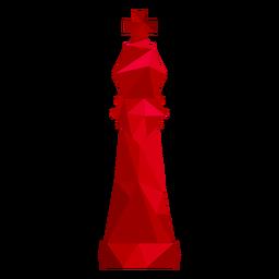 Rei xadrez baixo poli