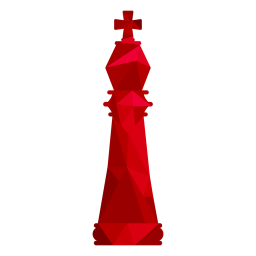 King chess low poly Transparent PNG