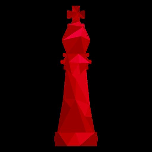 Rei xadrez baixo poli Transparent PNG