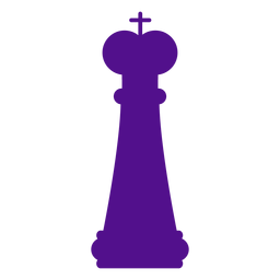 King chess silhouette
