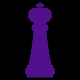 Silhueta de xadrez rei
