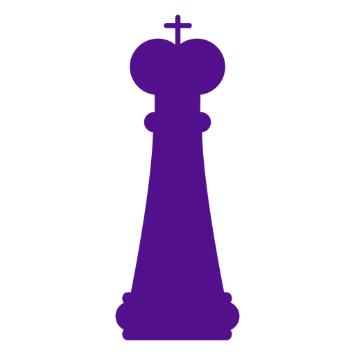 King chess silhouette Transparent PNG