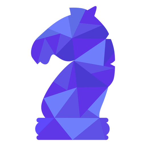 Knight chess low poly Transparent PNG