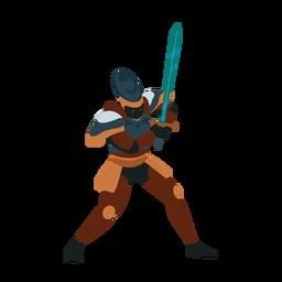 Ilustración de coraza de espada de caballero