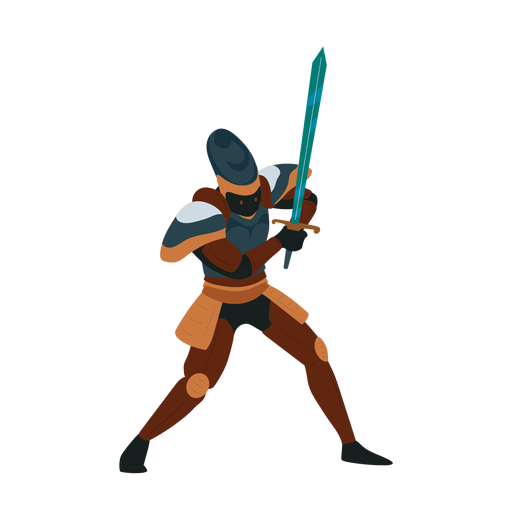 Knight sword cuirass illustration
