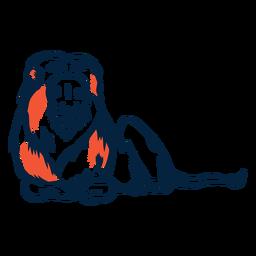 Colocación de ilustración de león