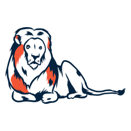 Laying lion illustration
