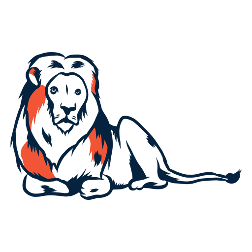 Laying lion illustration Transparent PNG