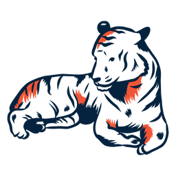 Laying tiger illustration