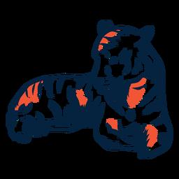 Poniendo ilustración de tigre