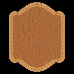 Insignia de la puntada de cuero