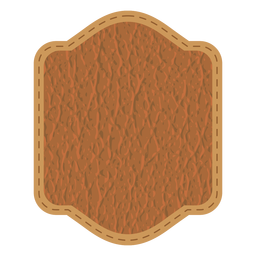 Leather stitch badge