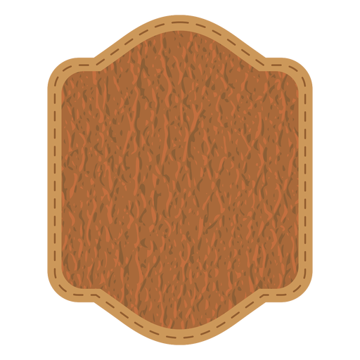 Leather stitch badge Transparent PNG