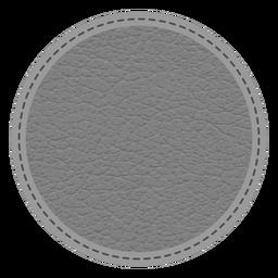 Emblema de linha tracejada de couro ponto
