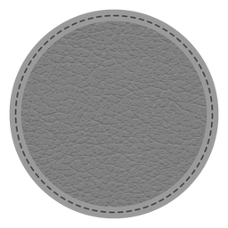 Leather stitch dashed line badge