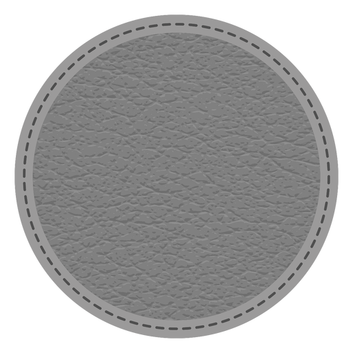 Leather stitch dashed line badge Transparent PNG