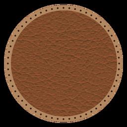 Abzeichen mit gepunkteter Linie aus Leder