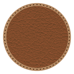 Insignia de línea punteada de cuero
