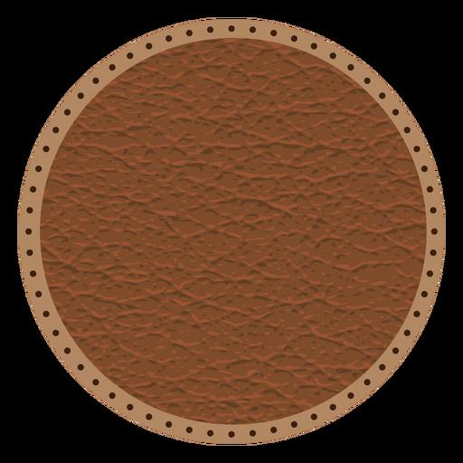Insignia de línea de puntos de puntada de cuero. Transparent PNG