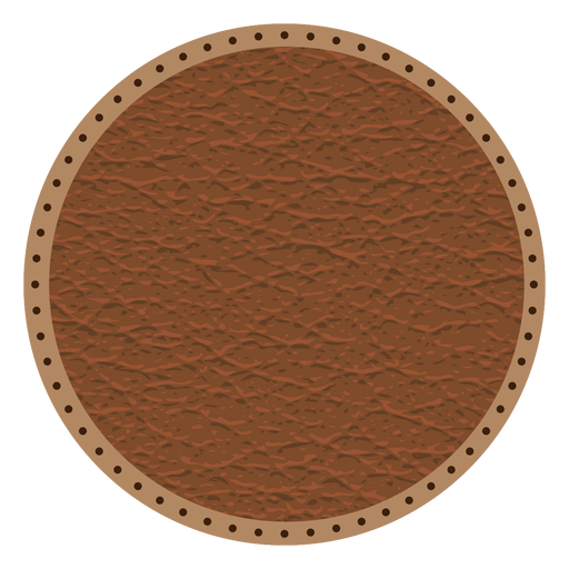 Leather stitch dotted line badge Transparent PNG