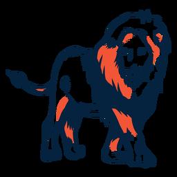 Lion duotone illustration