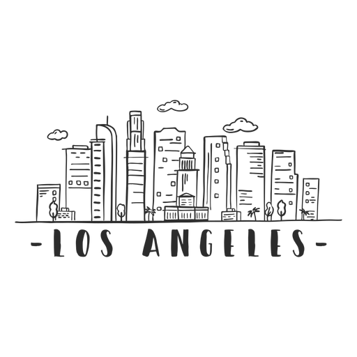 Los angeles palm tower business center sky scraper mall cloud skyline sticker Transparent PNG