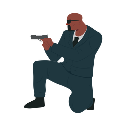 Man gun security illustration