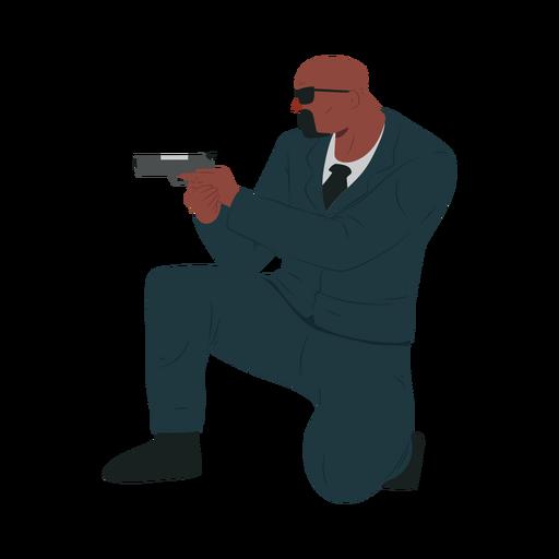 Man gun security illustration Transparent PNG