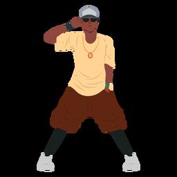 Hip-Hop-Charakter des Mannes Raper