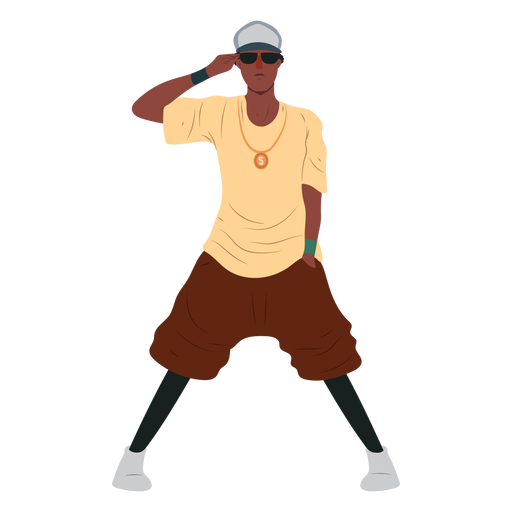 Man raper hip hop character Transparent PNG